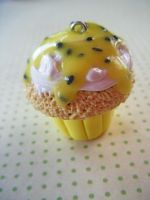 Passionfruit Cupcake Charm by Cinnamonster
