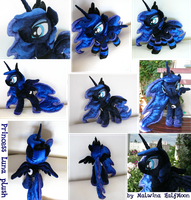 [sold] Princess Luna plush by MalwinaHalfMoon
