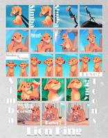 Simba icons. by Spenne