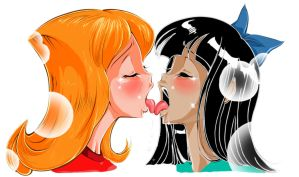 Candace and Stacy love kiss by reijisakamoto
