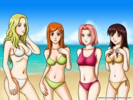 Anime Crossover Beach Special3 by grandchaosSR