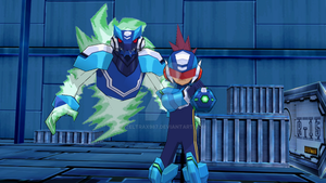 MMD NC 2-Pack - Megaman and Omega-Xis by Zeltrax987