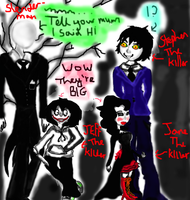 My Creepypasta chums (Request for Requiem-of-Ice) by mangastar98