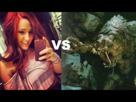 Me vs The Rancor by HollyGetMunched