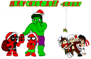 A Very Merry Marvel vs. Capcom Christmas by soryukey