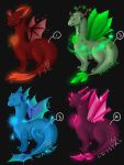 Adoptables Elemental Dragons by Firdaus95