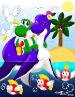 Yoshi and Dorrie by Bowser2Queen
