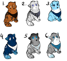 Wolf pup auctions by Icey-adopts