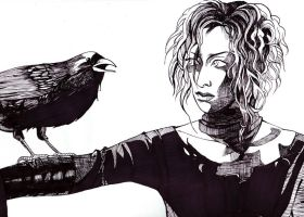 Karyuu -- The Crow by spiderlady