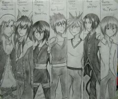 The Magic Guild of Writers - Main Characters by SayuriChann