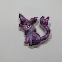 Espeon Fridge Magnet by Makibird-Stitching