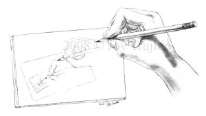 Hand drawing to the power of 4 by safyrejet