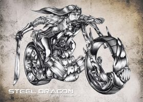 Steel Dragon by hairywookiee