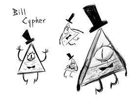 Bill Cipher Doodles by AuraGhost