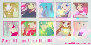 Pack Icons Anime by MikoneLOVE