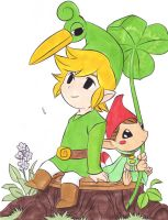The Legend of Zelda Minish Cap - Link with Minish by IshidaYuki