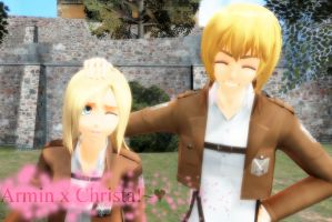 Armin and Christa!~ by animelover876