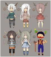 DeerDeer adoptable set [CLOSED] by WanNyan