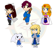 Assorted Chibis - The Noble and the Nerima by Dragon-FangX
