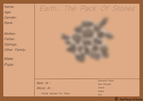 The Pack Of Stones Applicaiton by BizTheWolfLover