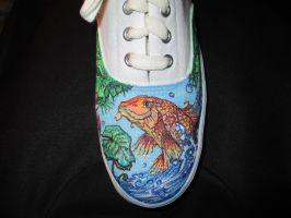 Koi canvas shoe1 by waverly888