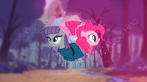 Maud Pie and Pinkie Pie wallpaper by CoderShy