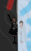 Darth Vader and Elsa by yinTHEanimatronicCAT