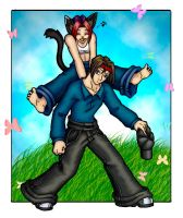 piggy back ride coloured by kilara