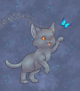 Blue Butterfly by VulpineFlame