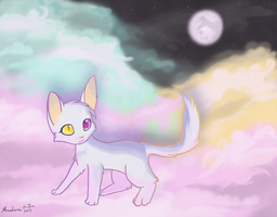 Iridescent Kitty by Mahsira