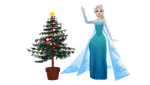 [MMD] Elsa with Christmas tree by MarcosLucky96