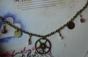 Steampunk Charm Bracelet by OcularFracture