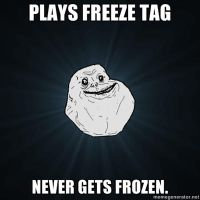 Forever Alone. Freeze tag. by LPawesome
