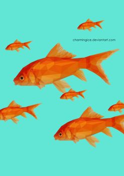 Low Poly Goldfish by CharmingIce