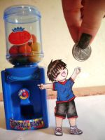 Give me a coin?? Paper child by Lil-melody