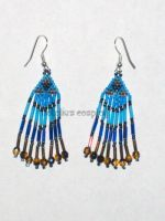 Blue and Brown Mini Earrings by Natalie526