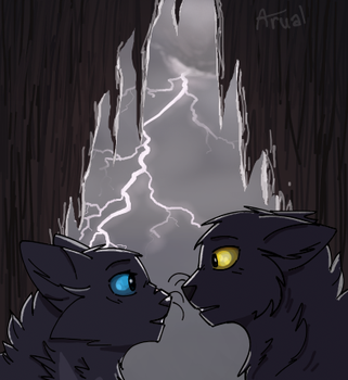 In the rain by ArualMeow