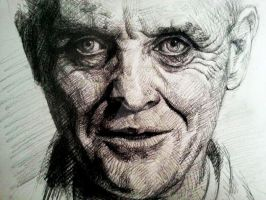 Hannibal Lecter _ acted by Anthony Hopkins by EofAlien