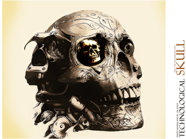 technological skull by de-rhcp
