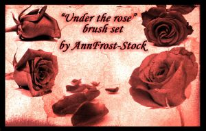 Under the rose brush set by AnnFrost-stock