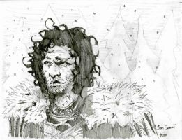 jon snow lunch sketch 05312011 by tomasoverbai