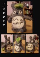Needle Felted Totoro by Madisya