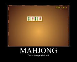 Mahjong Motivational Poster by falcorn0squirrel