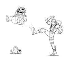 Wario and Snake by Bonus-kun