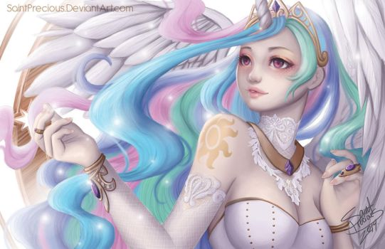 My little Pony Celestia Human by SaintPrecious