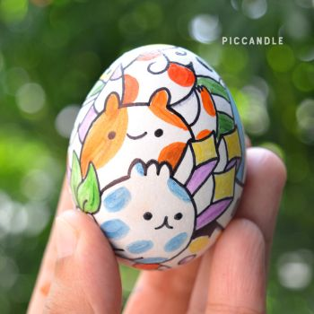 Doodle on Egg by PicCandle