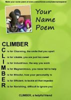 Climber's meaning by Shuniki