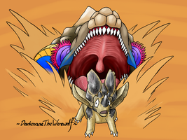 ChibiMonsterHunter-Hapurubokka by DarkmaneTheWerewolf