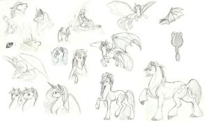 MLP Practice sketches by Earthsong9405