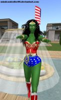 Wonder Woman: Green MC Zombie by The-Mind-Controller